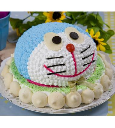 活灵活现的动物卡通形象,为生日蛋糕增添了不少的色彩,永远是孩子们的