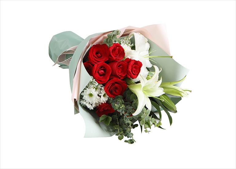 恋曲:红玫瑰9枝,白百合1枝