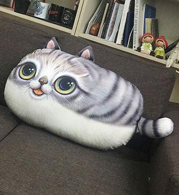 灰尾猫靠垫