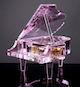 十八音粉水晶钢琴