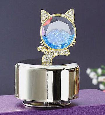 香薰音乐盒/金色小猫