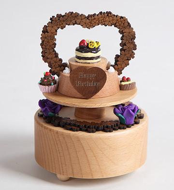 原木生日蛋糕音乐盒