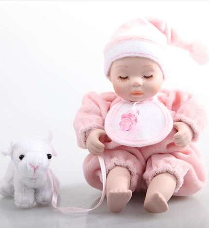 坐姿摇头娃娃 小羊/粉----摇头娃娃音乐盒 懒洋洋的可爱宝贝