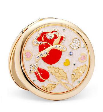 红玫瑰花化妆镜