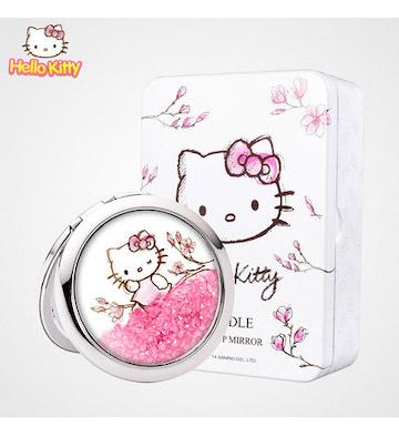 Hello Kitty化妆镜/粉色水晶