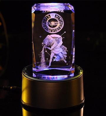3D水晶内雕-水瓶座