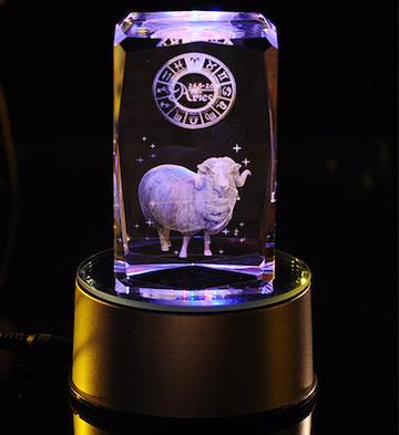 3D水晶内雕-白羊座
