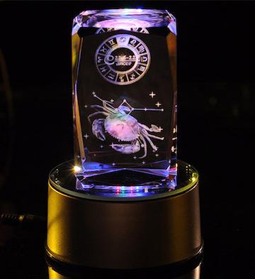 3D水晶内雕-巨蟹座