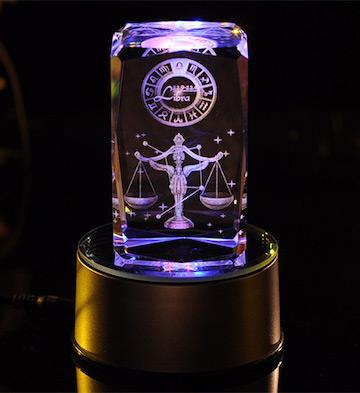 3D水晶内雕-天秤座