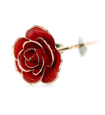 24K镀金天然红玫瑰+礼盒