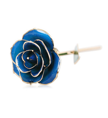 24K镀金天然蓝玫瑰+礼盒/免费送月亮底座