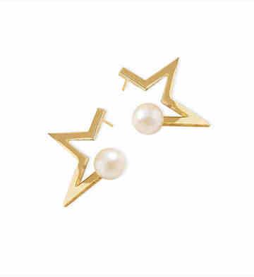 Glam Ever星星樂園金色半星耳環