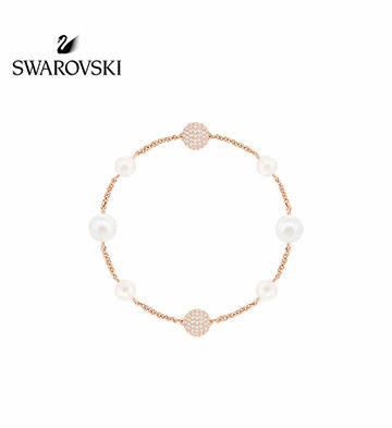 施華洛世奇REMIX珠光手鏈/鍍玫瑰金色
