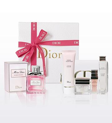 迪奥小姐花漾淡香水+花秘瑰萃尊享套装礼盒A款