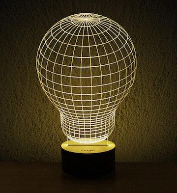 3D木质创意LED灯/灯泡