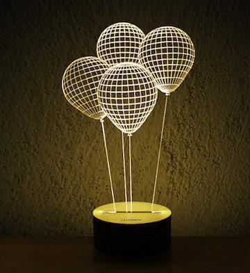 3D木质创意LED灯/气球