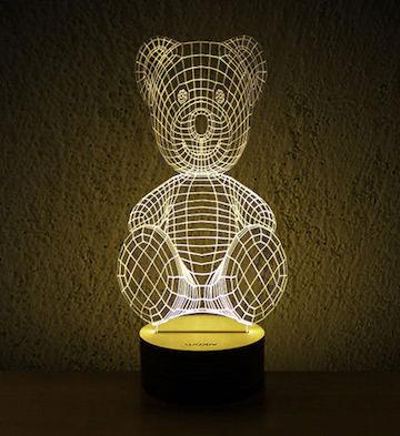 3D木质创意LED灯/熊宝宝