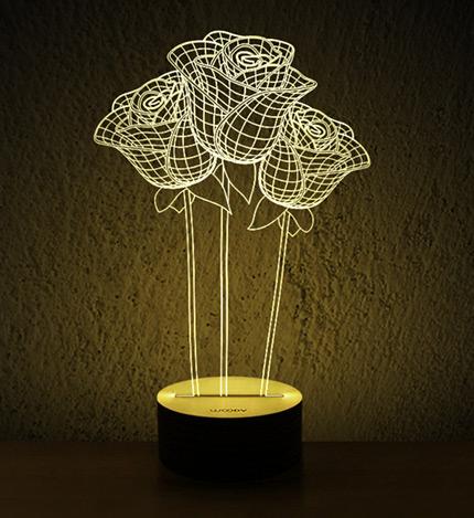 led创意礼品木质  底座样式:黑胡桃木 包 装: 一体盒子,手提袋,擦拭布