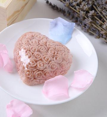 新疆和田玫瑰精油皂巧克力牛奶(花形)