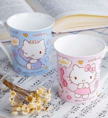 HELLO KITTY骨瓷甜言蜜语绮莉杯