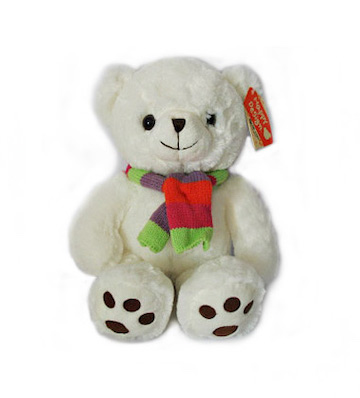 白色围巾熊(大号60cm)