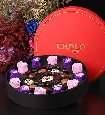 玫瑰馨语巧克力礼盒10颗礼盒装