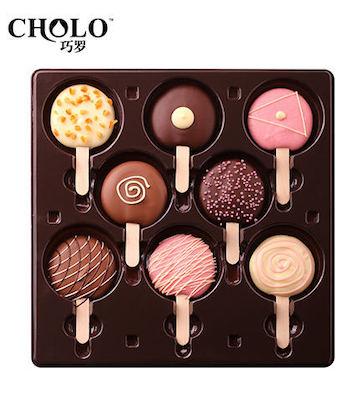 棒棒糖形手工纯脂巧克力礼盒