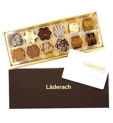 laderach 巧克力礼盒 咖色礼盒装 12颗装 M款