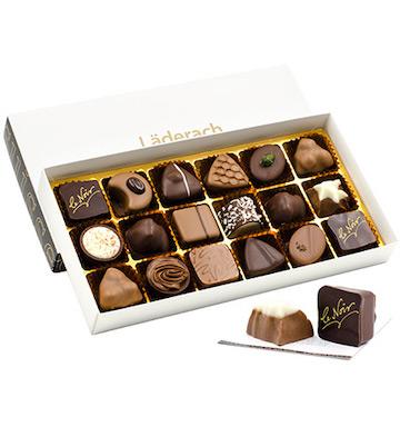 laderach 巧克力礼盒 白色礼盒装 18颗装 M款