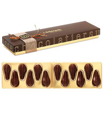 Laderach瑞士原装进口夹心黑巧克力 暗黑诱惑系列 情人节礼物 12颗礼盒