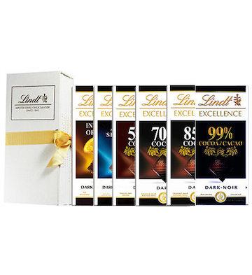 Lindt瑞士莲特醇排装黑巧克力礼盒