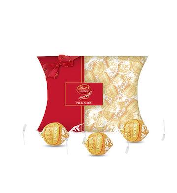 Lindt瑞士莲进口lindor软心白巧克力30粒装苹果派礼盒
