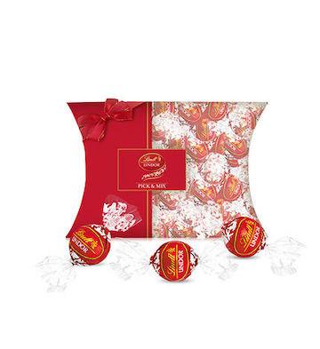 Lindt瑞士莲进口lindor软心牛奶巧克力30粒装苹果派礼盒