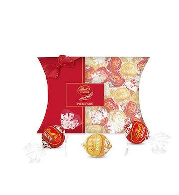 Lindt瑞士莲进口lindor软心巧克力30粒装苹果派礼盒(牛奶+白)