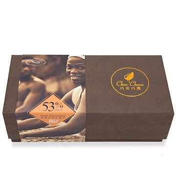 巧克巧蔻53%纯可可脂黑巧克力薄片