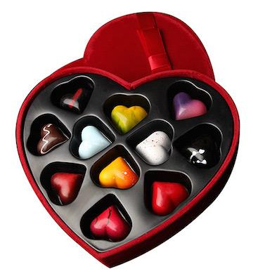 巧克巧蔻定制心形巧克力礼盒