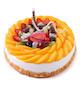 2磅(8寸)水果蛋糕:圆形水果蛋糕,各色水果饱满装饰