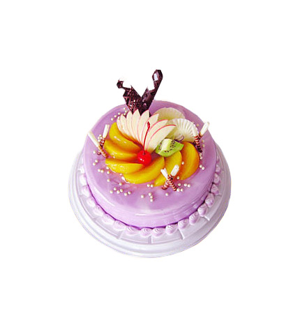 欧式长条水果蛋糕图片