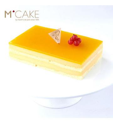 阳光心芒水果口味芒果慕斯生日蛋糕(2磅)