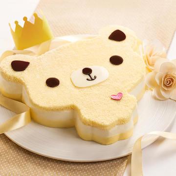 小熊動物造型芝士味生日兒童生日宴會蛋糕(2磅)