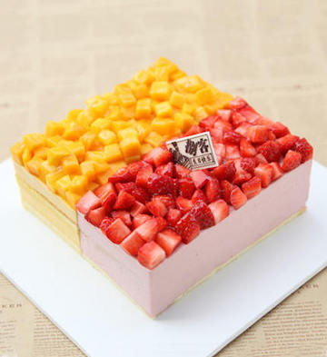 草莓芒果慕斯(2磅)
