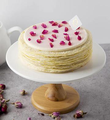 法式玫瑰千层蛋糕(2磅)