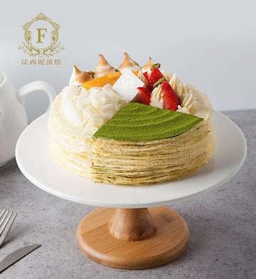 法式四拼千层蛋糕(2磅)