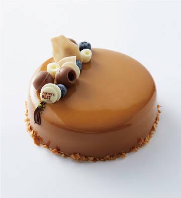 """""""悦动的心""""黑巧焦糖蛋糕冰淇淋(6寸)"""