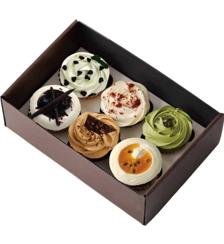 醇意紙杯蛋糕禮盒(6杯)
