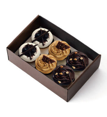 黑黑黑紙杯蛋糕禮盒(6杯)