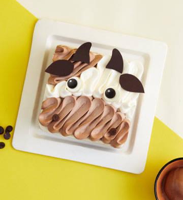 萌小牛蛋糕意式冰淇淋(6寸)