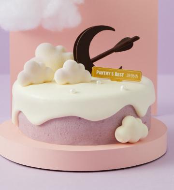 """""""紫薯于你""""椰子天使奶油蛋糕(6寸)"""