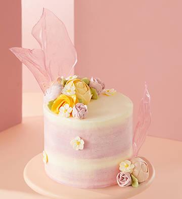 """秘密花園""""繁花加高蛋糕(5英寸)"""