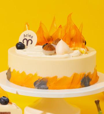 """白羊座""""熱情火山""""雙重巧克力蛋糕(6英寸)"""